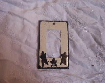 Primitive black stars gfi/reset switch cover FREE SHIPPING