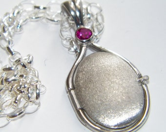Hand Made 925 Sterling Silver 4 mm Lab Ruby Locket H2O Just Add Water Mermaids Pendant