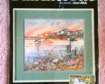 Vintage Dimensions Cross Stitch Kit Sunny Seaport No Count Cross Stitch Seaport Scene h13