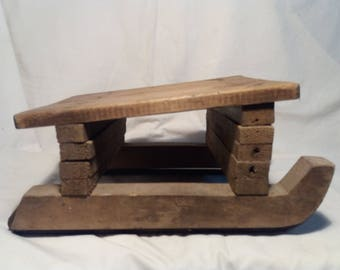 Antique Handmade Wooden Sled -  Children's Size