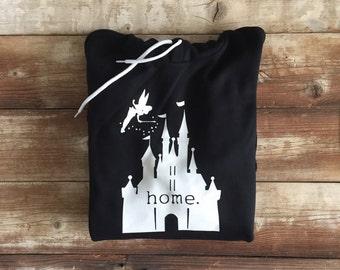 Disney Castle Home Hooded Sweatshirt or T-Shirt // Tee