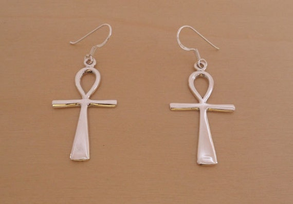 925 Sterling Silver Egyptian Ankh Cross Pendant Represent Key of Life 9LzvRCqETs