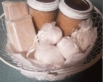 Soap and scent gift basket