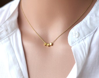 Gold star mothers etsy star necklace cute gold tiny star necklacegold star pendantmodern minimalist mozeypictures Image collections