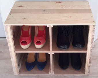 Upcycled wooden Shoe cabinet