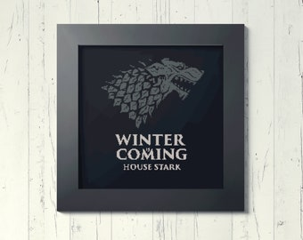 Stark Game of thrones - Winter is coming Downloadable Cross Stitch PDF pattern