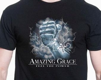 Amazing Grace Religious T Shirt Free Shipping  Christian T-Shirt Jesus Christ Shirt Freedom Shirt