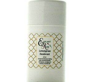 Natural Deodorant - Lemongrass Deodorant, Extra Protection Deodorant