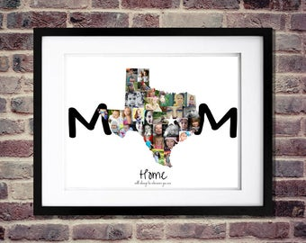 Mothers Day Photo Collage | Mothers Day Gift | Mothers Day from Son | Mothers Day from Husband | Personalized Mom Gifts