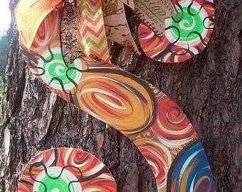 Monogram Letter Door Hanger, Monogram Door Hanger, Dark colors, Fall colors, wreath
