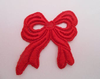 Red Bow lace 4.5 cm