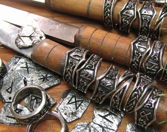 Viking Rune Pendant and Runic Ring Gift Set