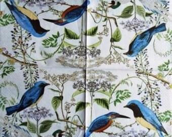 TOWEL in beautiful paper #AN014 blue birds
