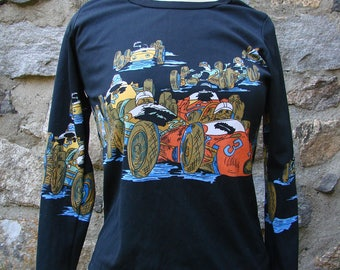 Vintage Race Cars Women's Shirt Black Polyester