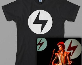 Ziggy Stardust inspired T Shirt  - Lightning bolt, Aladdin Sane, Rebel, 70s, classic rock - Graphic Tee, All Sizes & Colors