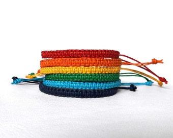 Rainbow bracelet Colorful bracelet custom color bracelet macrame bracelet Surfer Bracelet Multicolored Bracelet