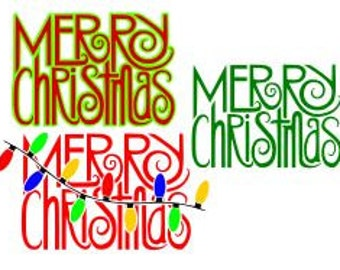 Merry Christmas; SVG, DXF,  Ps, AI and Pdf Cutting Files for Electronic Cutting Machines