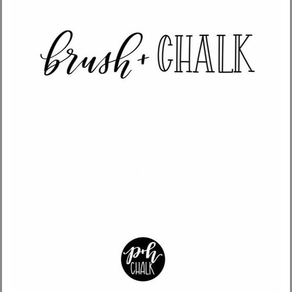 Digital download Brush+Chalk Lettering workbook