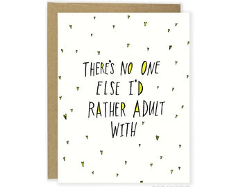 Adult Love Card, Funny Anniversary Card, Adulting, Love Card For Husband, Boyfriend, Girlfriend, Wife Anniversary, Funny Love Card, Grown Up