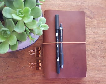Travelers Notebook WILD BROWN,Classic, Leather Journal,Travel Journal, Australian Leather, Teacher Diary