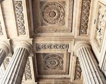 Paris Architecture Photography - Photo of Columns Saint Sulpice Print Parisian Decor Paris France Photo Neutral Elegant French Decor