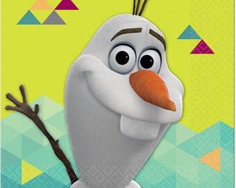 Frozen ''Olaf '' Beverage Paper Napkins 16ct