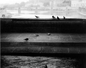 Florence view from Ponte Vecchio bridge (2009). Darkroom silver gelatin print