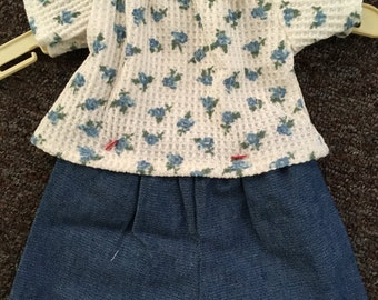 Bitty Baby Blue Shorts Outfit
