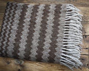 Women Gift Wool Blanket - Throw Blanket Wool - Gift Knit Blanket - Warm Wool Throw - Wife Gift Christmas - Merino Wool Gift - Wool Throw