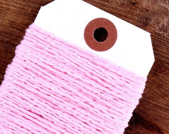 Light Pink Bakers Twine, Shimmer Pink Bakers Twine, Cotton Twine, Pink Gift Wrap, Baker's Twine, Packaging, Bakers String, Cord (15 yds)