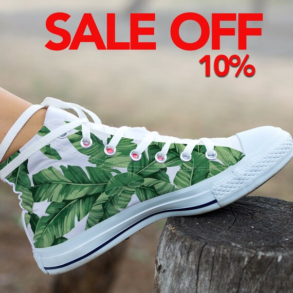 Leaf Shoes Leaf Shoes Sneaker Custom Banana Top Custom Custom Leaf Banana Shoes High Banana Leaf Banana Converse Banana Converse Leaves Rq1Avd