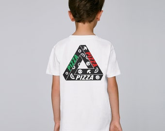 Kids Triangle Pizza T-shirt Ethically made streetwear fashion for boys 3 - 14 toddlers