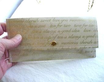 Friendship Gift, Slim Wallet, Womens Wallet, Wedding Gift, Graduation Gift, Mother Daugther Gift, Best Friend Gift, Gift Set, Notepad