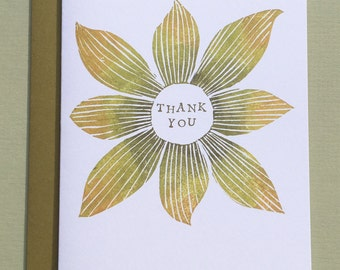 Yellow Flower Thank You Note Card