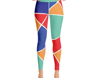 Stained Glass Print Yoga Leggings