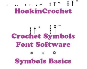 HookinCrochet Symbols Basics Font Software