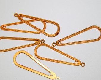 6 Vintage Large Copper Drops