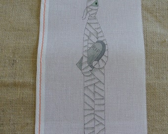 Needlepoint canvas - Halloween Mummy