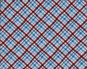 Patriotic Plaid by Michele D'Amore for Bernatex 3484 - Half Yard Scrap