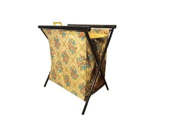 Yellow Country Folding Knitting Basket