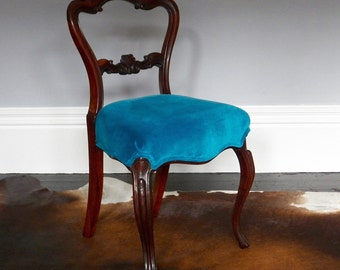 William IV Rosewood and Velvet Chair.