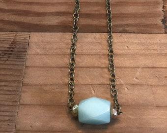 Amazonite reiki infused necklace.