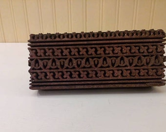 Hand Carved Woodblock Block Print Craft Supply