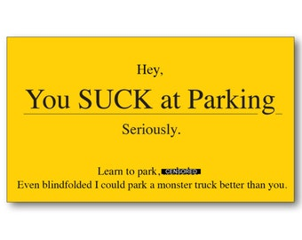 Bad parking cards etsy funny gift for men you suck at parking business cards colourmoves