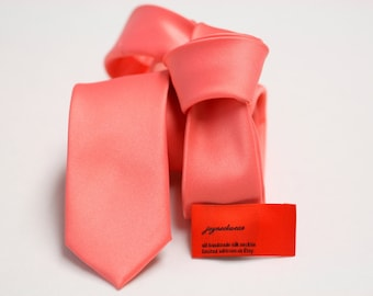 SUNSET Tie (2 or 3 inch) Sunset matching Vera Wang David's Bridal Solid