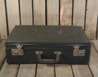 Vintage Small Black Suitcase