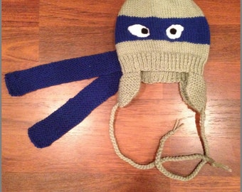 Knitted Ninja Turtle Hat
