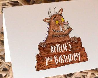 Personalised Gruffalo inspired Greetings Card