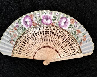 Range, hand painted fan