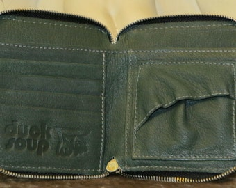 Leather Wallet, Forrest Green DS111